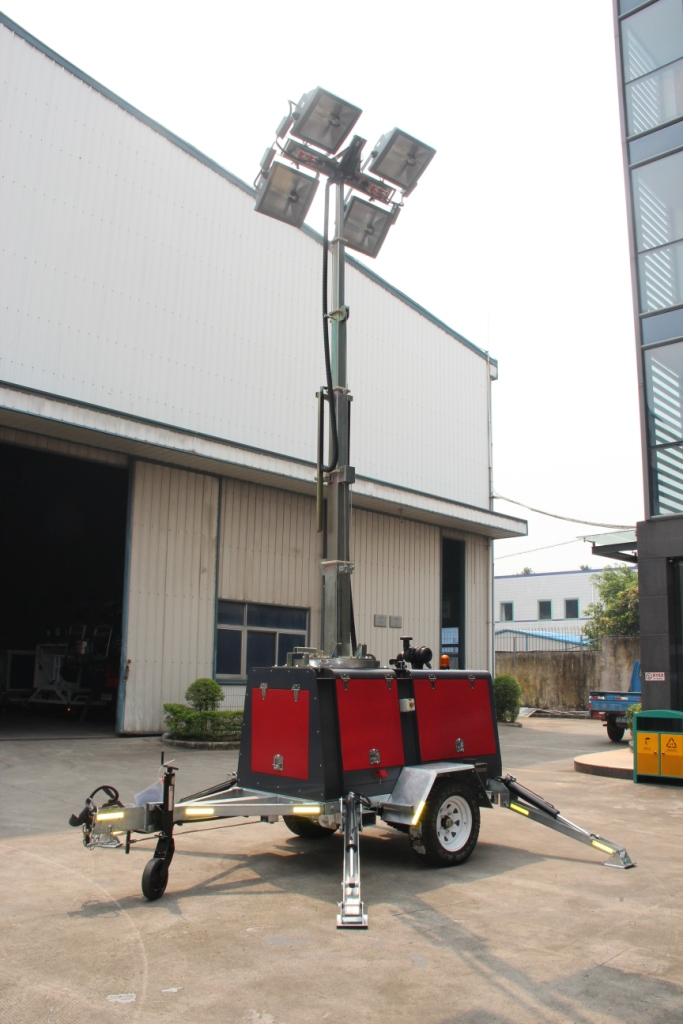 Hydraulic Light Tower for Field Work